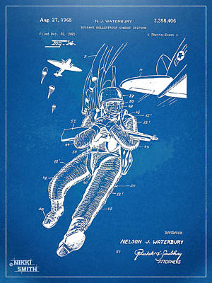 Bulletproof Patent Artwork 1968 Figure 14 Poster by Nikki Marie Smith