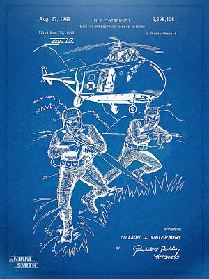 Bulletproof Patent Artwork 1968 Figure 15 Poster by Nikki Marie Smith