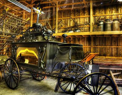 Burial Hearse Wagon Coach - Vintage - Nostalgia - Western - Antique  Poster by Lee Dos Santos