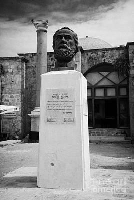 Bust Statue Of Namik Kemal In Namik Kemal Square Famagusta Turkish Republic Of Northern Cyprus Trnc Poster by Joe Fox