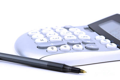 Calculator And Pen Poster by Blink Images