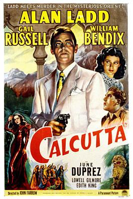 Calcutta, Alan Ladd, Gail Russell Poster by Everett