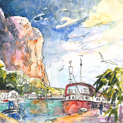 Calpe Harbour 04 Poster by Miki De Goodaboom