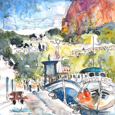 Calpe Harbour 05 Poster by Miki De Goodaboom