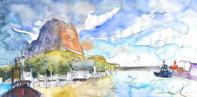 Calpe Harbour 06 Poster by Miki De Goodaboom