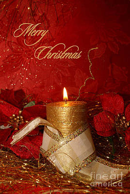 Candle Light Christmas Card Poster by Aimelle