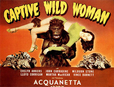Captive Wild Woman, Ray Crash Corrigan Poster by Everett