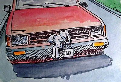 Car Hood Sketchbook Project Down My Street Poster by Irina Sztukowski