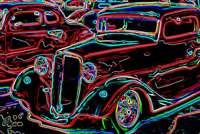 Car Show Poster by Mike OBrien