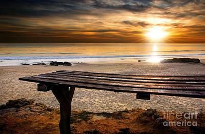 Carcavelos Beach Poster by Carlos Caetano