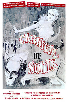 Carnival Of Souls, Candace Hilligoss Poster by Everett
