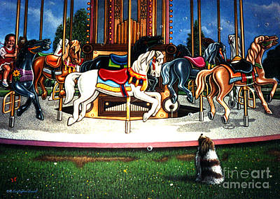 Carousel Center Detail Poster by Cristophers Dream Artistry