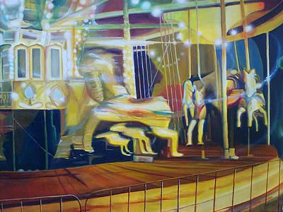 Carousel Poster by Leonard Aitken