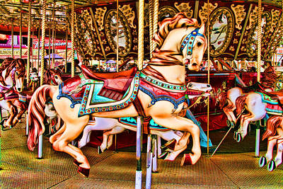 Carousel Poster by Mike OBrien