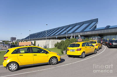 Cars Lining Up For Pickup At The Airport Poster by Jaak Nilson