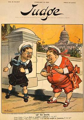 Cartoon Showing President Elect William Poster by Everett