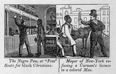 Cartoons Depicting The Racial Poster by Everett