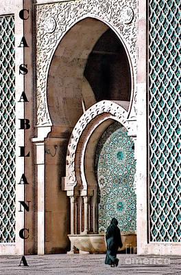 Casablanca Mosque Poster by Linda  Parker