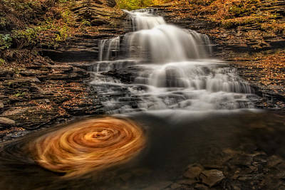 Cascading Swirls Poster by Susan Candelario