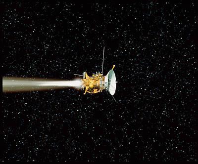 Cassini Spacecraft Poster by David Ducros