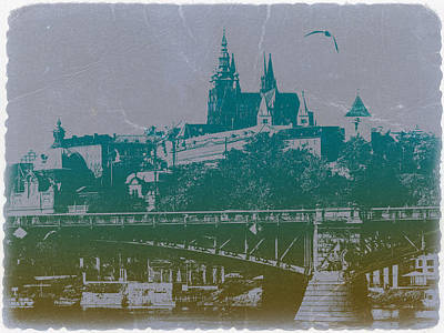 Castillo De Praga Poster by Naxart Studio