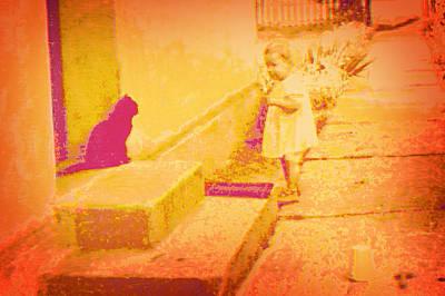 Cat Watching Poster by Li   van Saathoff