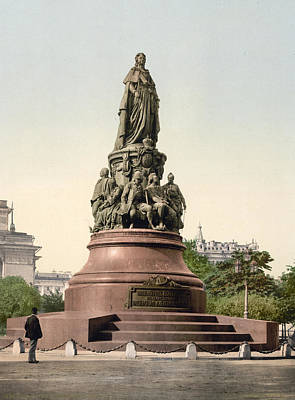 Catherine II Monument In St. Petersburg Russia Poster by International  Images