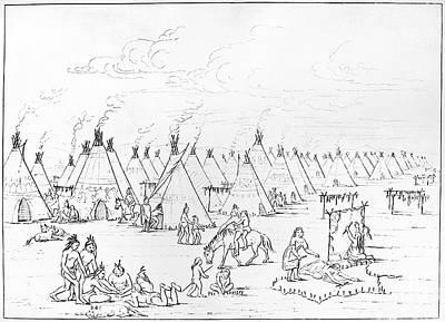 Catlin: Comanche Village Poster by Granger