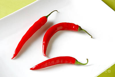 Cayenne Peppers Poster by HD Connelly