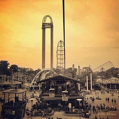 Poster featuring the photograph #cedarpoint #ohio #ohiogram #amazing by Pete Michaud
