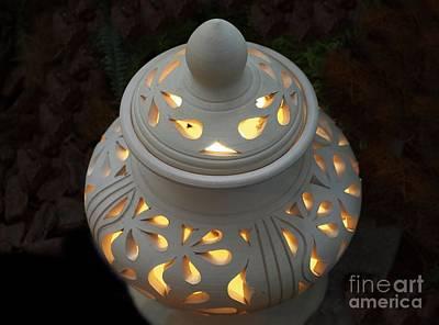 Ceramic Lantern Poster by Yali Shi
