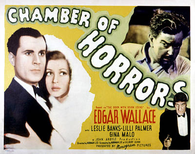 Chamber Of Horrors Aka Door With Seven Poster by Everett