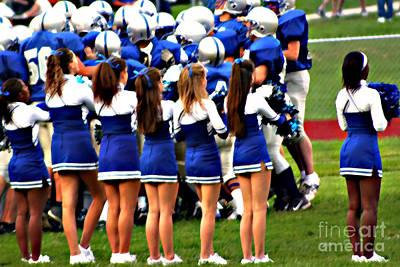 Cheerleaders Poster by Susan Stevenson