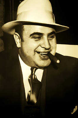 Chicago Gangster Al Capone Poster by Bill Cannon