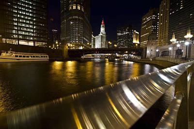 Chicago Riverwalk And Reflections Poster by Sven Brogren