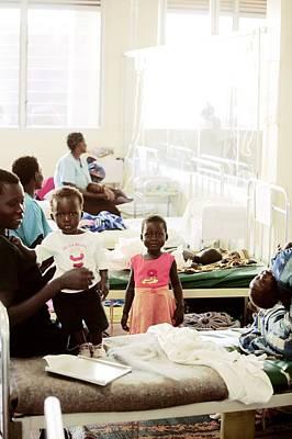 Children's Hospital Ward, Uganda Poster by Mauro Fermariello