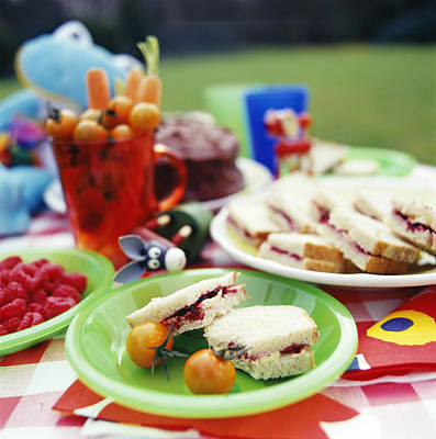Children's Picnic Food Poster by David Munns