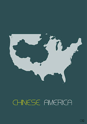 Chinese America Poster Poster by Naxart Studio