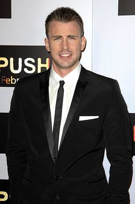 Chris Evans At Arrivals For Push Poster by Everett