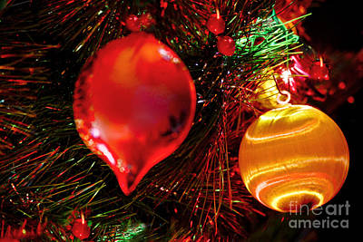 Christmas Ornament Decoration Poster by Carol F Austin