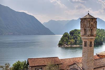church at the Lake Como Poster by Joana Kruse