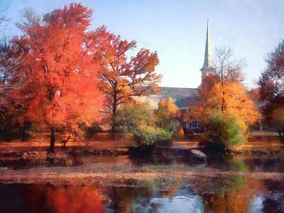 Church In Autumn Poster by Susan Savad