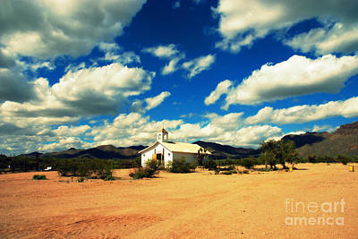 Church In Old Tuscon Arizona Poster by Susanne Van Hulst