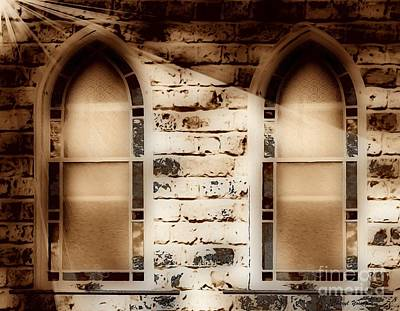 Church Windows 3 Poster by Cheryl Young