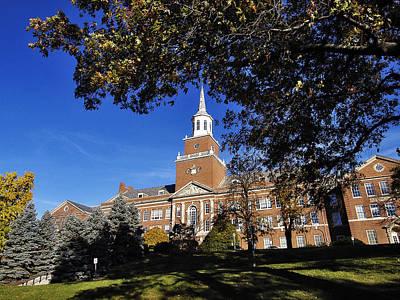 Cincinnati Blue Skies Over Mcmicken Hall Poster by University of Cincinnati