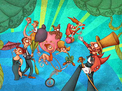 Circus 2 Poster by Autogiro Illustration