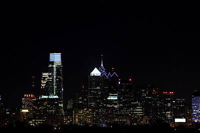 City Lights At Night Poster by Deborah  Crew-Johnson
