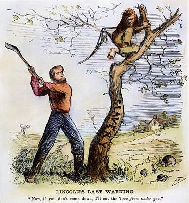 Civil War Cartoon, 1862 Poster by Granger