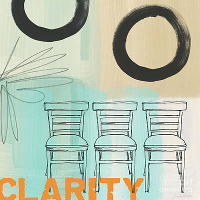 Enso Poster featuring the painting Clarity by Linda Woods