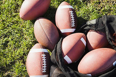 Close-up Of Footballs On A Field Poster by Purestock